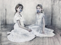 The Real Blue Graphite, Charcoal, Coloured pencil, Soft pastel a